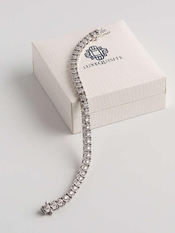 Round Brilliant Tennis Bracelet in White Gold