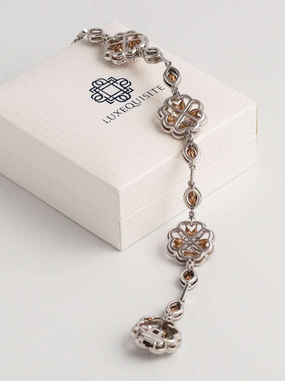 Flower Motif Diamond Bracelet