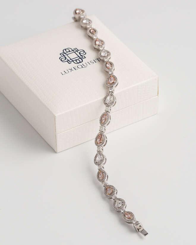 Fancy Colour Tennis Bracelet (Pear and Marquise)