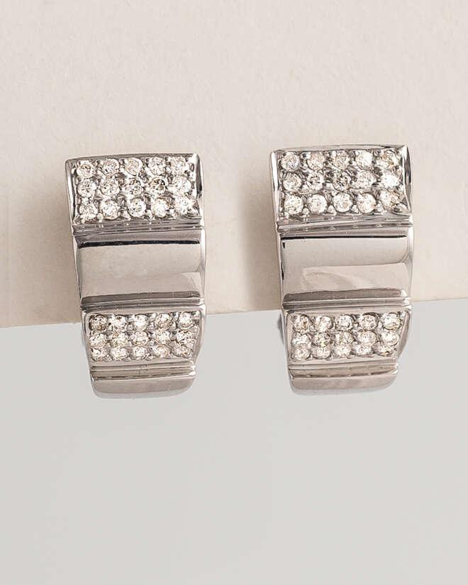 Exquisite White Gold Diamond Earrings