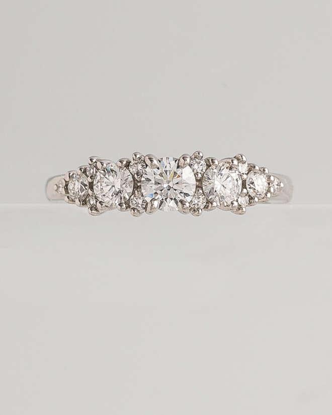 The Elegant White Gold Diamond Ring