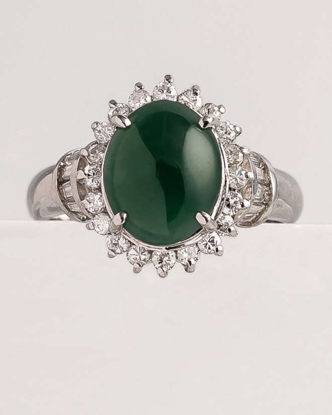 The Vigilant Jade Eye Diamond Ring