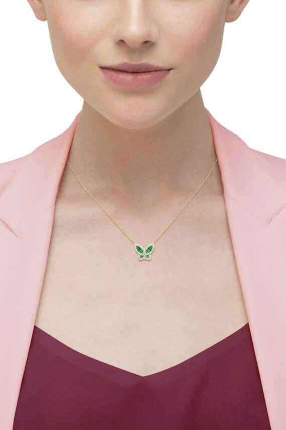 The Lucina Butterfly Necklace (Large)