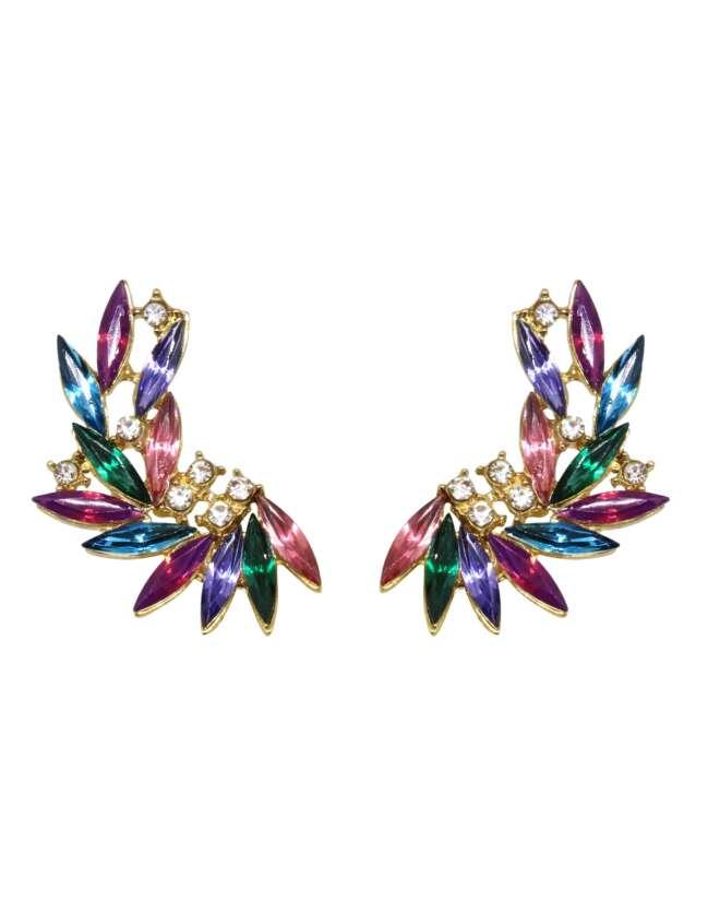 Violet Star Cuff Earrings